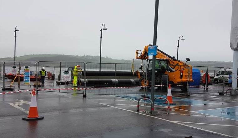Embarking on a new pontoon for youghal youghal for Bar food youghal